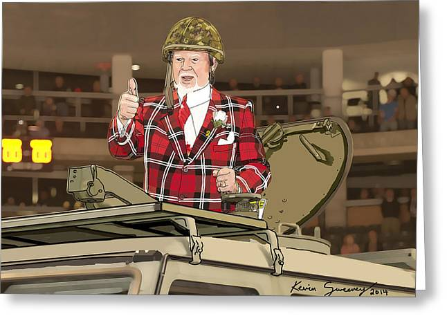 Don Cherry Greeting Cards - Don Cherry Military Appreciation   Greeting Card by Kevin Sweeney