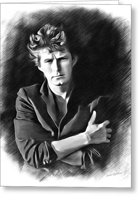 Digital Designs Greeting Cards - Don Henley Sketch Greeting Card by Scott Wallace