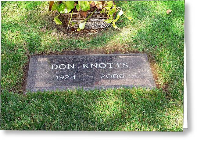 Don Knotts Greeting Cards - Don Knotts Grave Greeting Card by Jeff Lowe