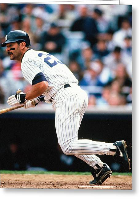 Don Mattingly Greeting Cards - Don Mattingly Greeting Card by Jerry Coli