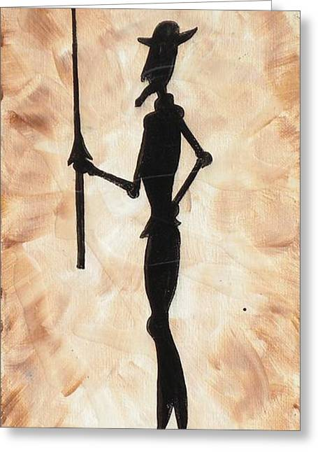 Don Quijote Greeting Card by Edwin Alverio