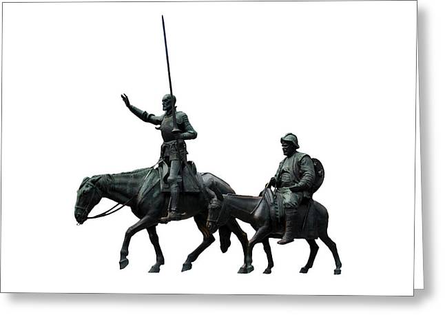 Don Quixote Greeting Cards - Don Quixote and Sancho Panza  Greeting Card by Fabrizio Troiani