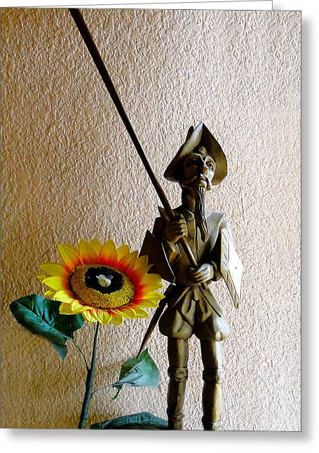 Quixote Greeting Cards - Don Quixote III Greeting Card by Al Bourassa