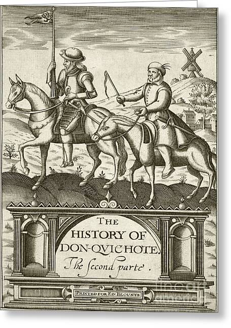 Don Quixote Greeting Cards - Don Quixote (part Two), 1620 Edition Greeting Card by British Library