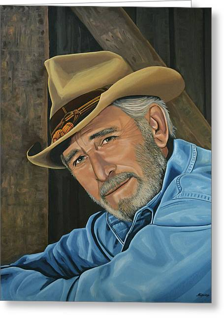 Don Williams Painting Greeting Card by Paul Meijering