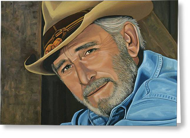 Don Williams Greeting Card by Paul  Meijering