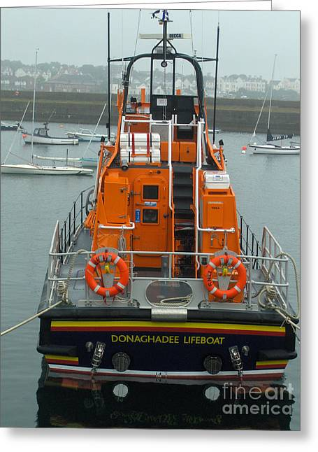 Brenda Brown Greeting Cards - Donaghadee Rescue Lifeboat Greeting Card by Brenda Brown