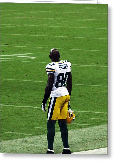 Donald Greeting Cards - Donald Driver one Greeting Card by Ty Helbach
