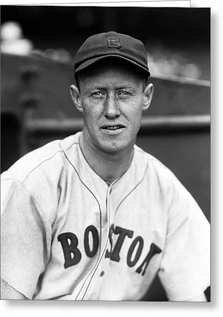 Boston Red Sox Greeting Cards - Donald S. Red Kellett Greeting Card by Retro Images Archive