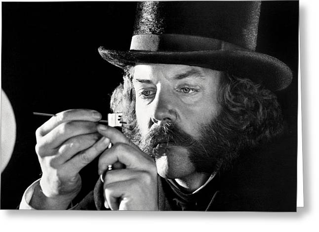 Donald Greeting Cards - Donald Sutherland in The First Great Train Robbery  Greeting Card by Silver Screen