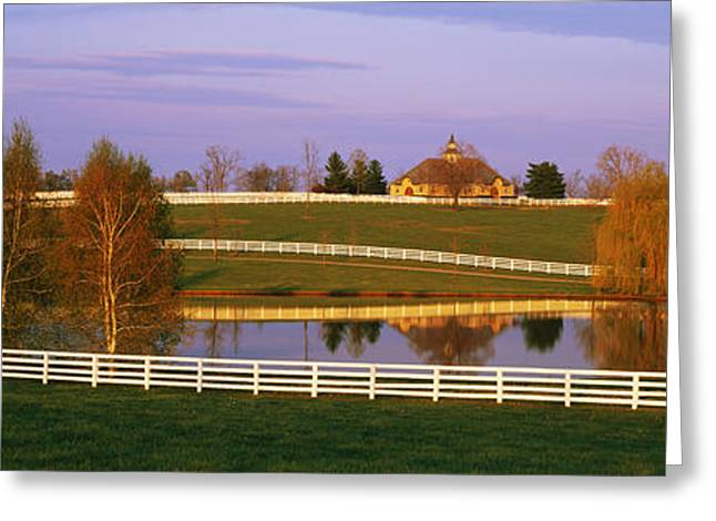 Reflecting Water Greeting Cards - Donamire Farm Ky Greeting Card by Panoramic Images
