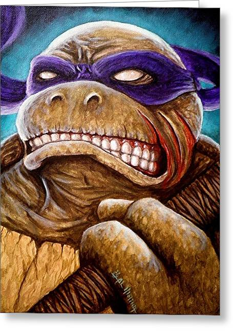 Donatello Greeting Cards - Donatello Unleashed Greeting Card by Al  Molina