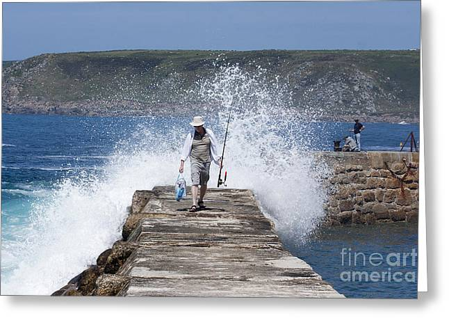 Sennen Cove Greeting Cards - Done Fishing Greeting Card by Terri  Waters