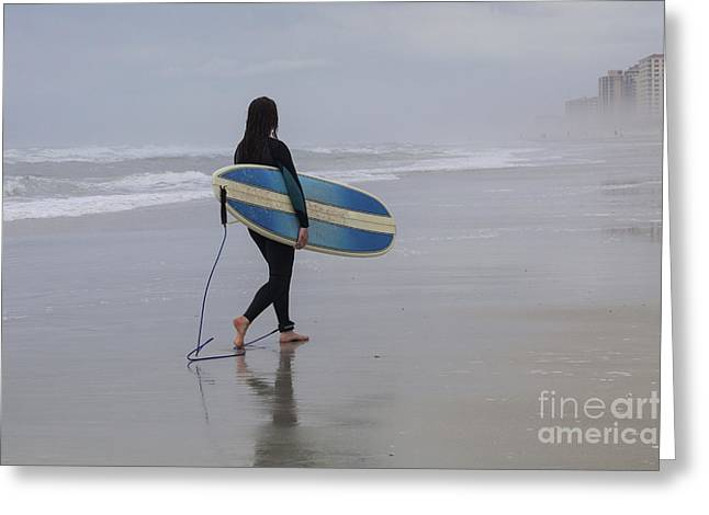 Straps Greeting Cards - Done Surfing Greeting Card by Diane Macdonald