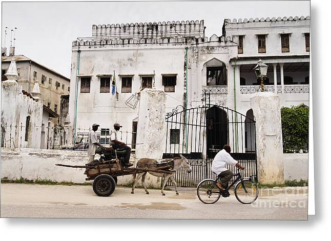 Paradise Road Greeting Cards - Laid Back Lifestyle - Historic Architecture in Unguja Stonetown Zanzibar Island Greeting Card by Nasser Studios