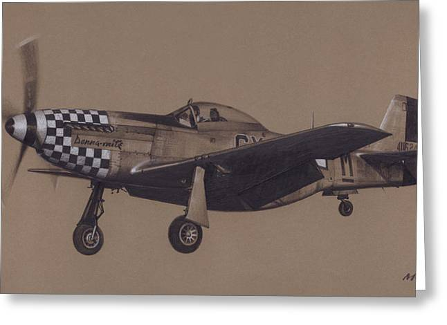 P-38 Greeting Cards - Donna Mite Over the Fence Greeting Card by Wade Meyers
