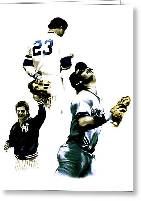 Photographs Drawings Greeting Cards - Donnie Baseball  Don Mattingly Greeting Card by Iconic Images Art Gallery David Pucciarelli