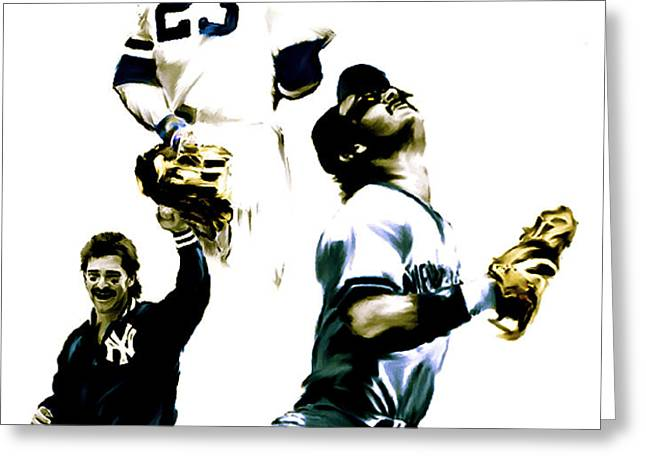 Donnie Baseball  Don Mattingly Greeting Card by Iconic Images Art Gallery David Pucciarelli