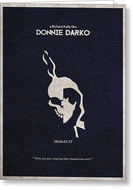 Retro Typography Greeting Cards - Donnie Darko Greeting Card by Ayse Deniz