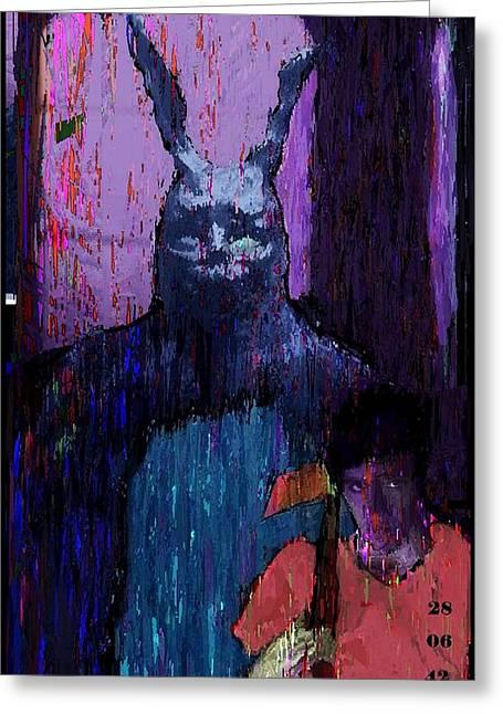 Rogen Greeting Cards - Donnie Darko  Greeting Card by Brett Sixtysix
