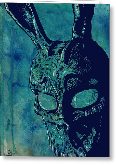 Mask Greeting Cards - Donnie Darko Greeting Card by Giuseppe Cristiano