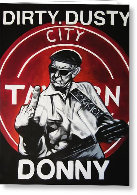 Donny Greeting Cards - Donny Cash Greeting Card by Steve Hunter