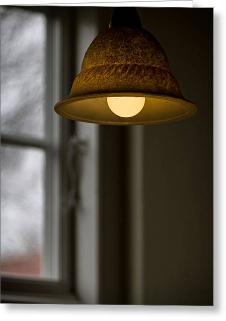 Lampshade Greeting Cards - Dont Be Long Greeting Card by Odd Jeppesen