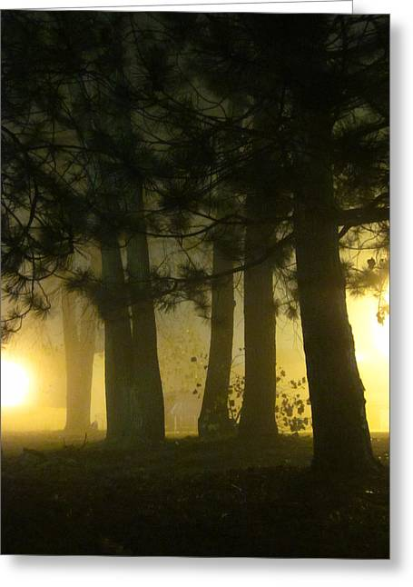 Guy Ricketts Photography And Art Greeting Cards - Dont Breathe the Yellow Fog Greeting Card by Guy Ricketts
