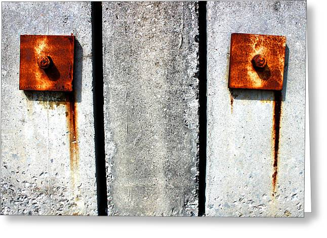 Rust Mixed Media Greeting Cards - Dont Cry for Me Industrial Decay Series No 006 Greeting Card by Design Turnpike