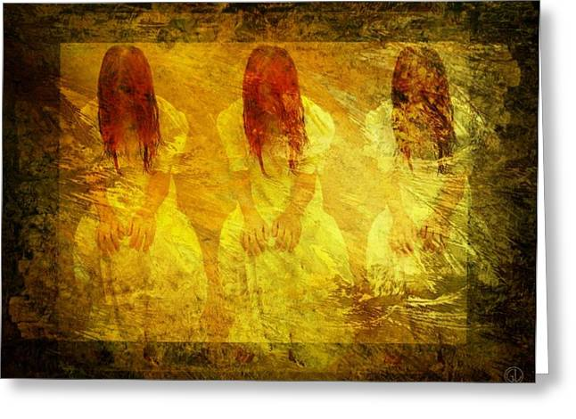 Triplets Greeting Cards - Dont dare to see the light Greeting Card by Gun Legler