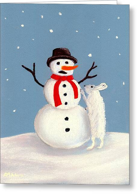 Christmas Pastels Greeting Cards - Dont Eat My Nose Greeting Card by Anastasiya Malakhova