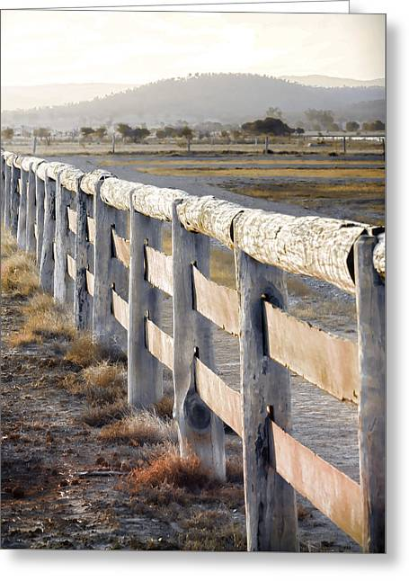 Timber Posts Greeting Cards - Dont Fence Me In Greeting Card by Holly Kempe