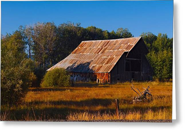 Red Roofed Barn Greeting Cards - Dont Fence Me In Greeting Card by Laura Ragland