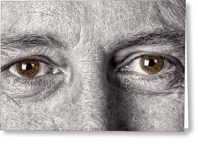 Self-portrait Photographs Greeting Cards - Dont let the Stars Get in Your Hazel Eyes Greeting Card by James BO  Insogna