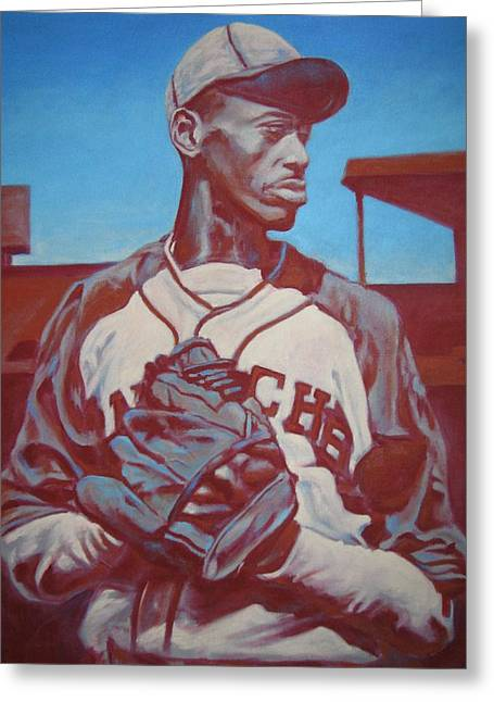 Satchel Paige Greeting Cards - Dont Look Back Greeting Card by Paul Smutylo