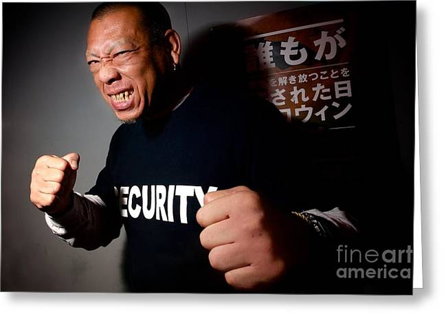 Bouncer Greeting Cards - Dont Mess With Security Greeting Card by Jason Weller