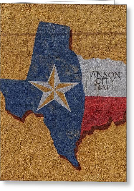 City Hall Greeting Cards - Dont Mess with Texas in Anson Greeting Card by Mountain Dreams