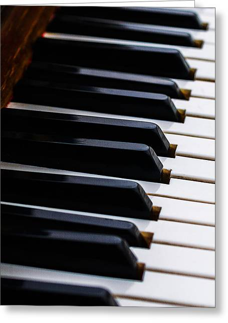Don't Shoot The Pianist Vertical 2 Greeting Card by Alexander Senin