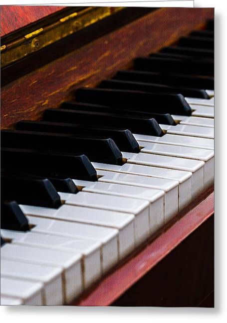Reflex Greeting Cards - Dont Shoot The Pianist Vertical 3 Greeting Card by Alexander Senin