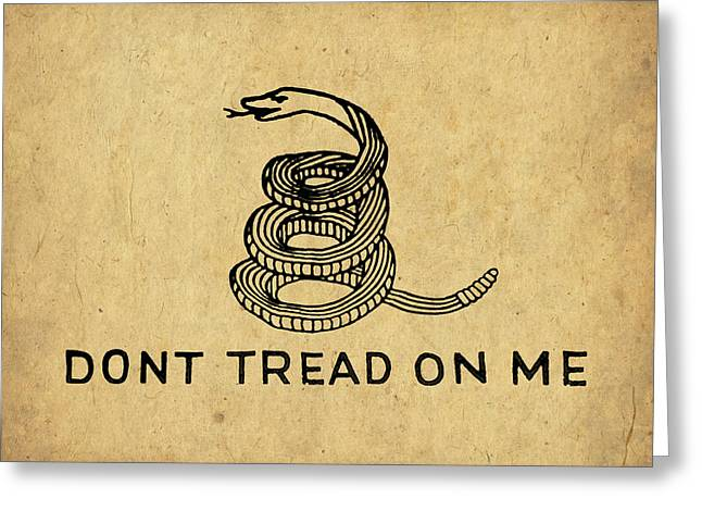 Liberty Greeting Cards - Dont Tread On Me Greeting Card by God and Country Prints