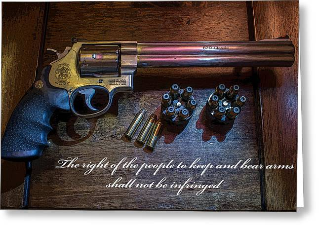 44 Magnum Greeting Cards - Dont Tread On Me Greeting Card by Robert Storost