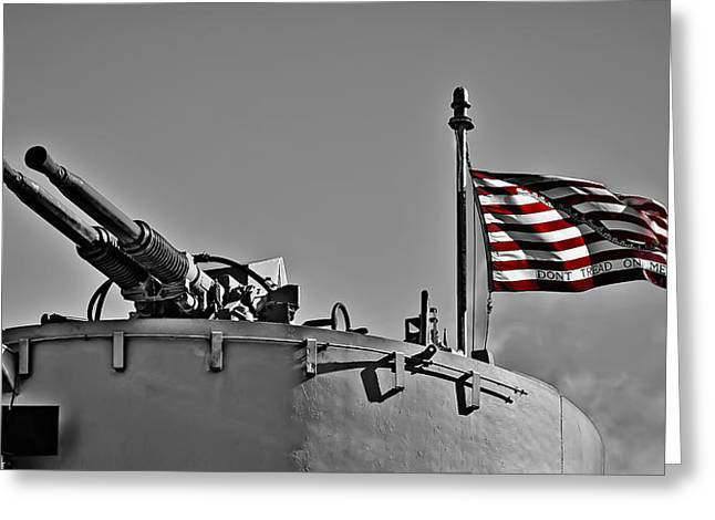 Don't Tread On Me - Selective Color Greeting Card by Greg Jackson