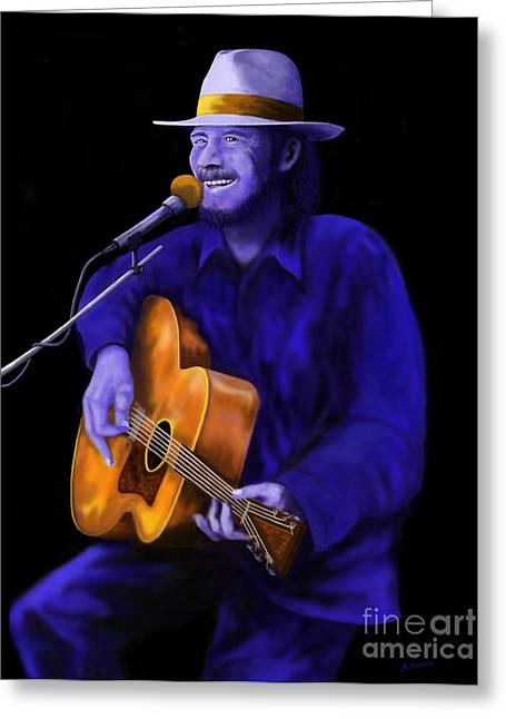 Steve Knapp Greeting Cards - Dont Try To Lay No Boogie Woogie On the King of Rock and Roll Greeting Card by Steve Knapp