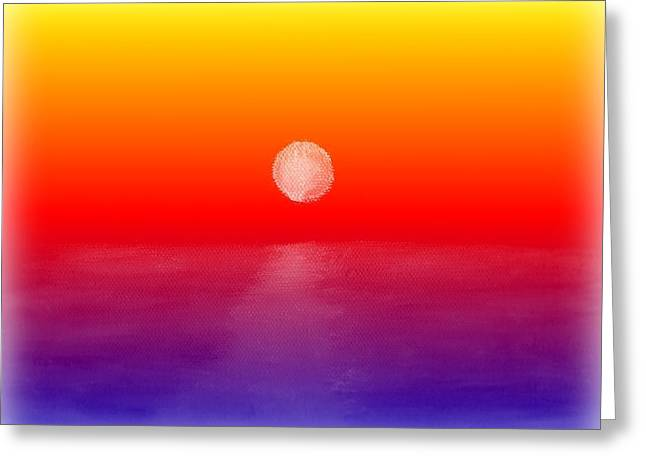Moon Set Digital Art Greeting Cards - Dont Wake Me Greeting Card by Elizabeth Sullivan