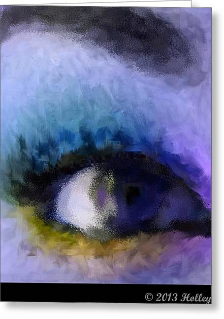 Abstract Digital Greeting Cards - Dont Wake Me Up Blue Greeting Card by Holley Jacobs