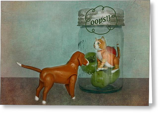 Concern Digital Art Greeting Cards - Dont Worry Buddy Greeting Card by Terry Fleckney