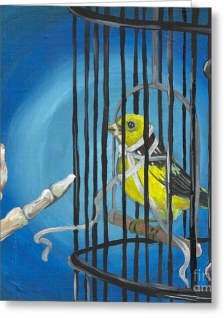 Free Speech Greeting Cards - Dont You Dare Sing Greeting Card by Amanda Christine Shelton