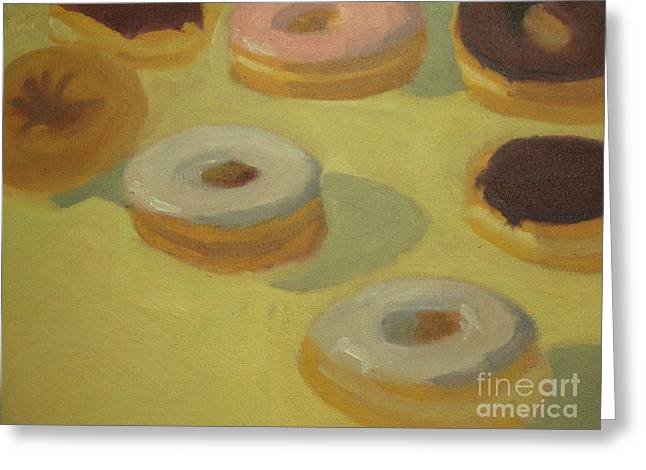 Hannukah Greeting Cards - Donuts Greeting Card by Sharon Hollander