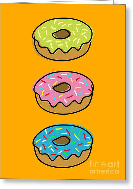 Frosting Digital Greeting Cards - Donuts Greeting Card by Shawn Hempel