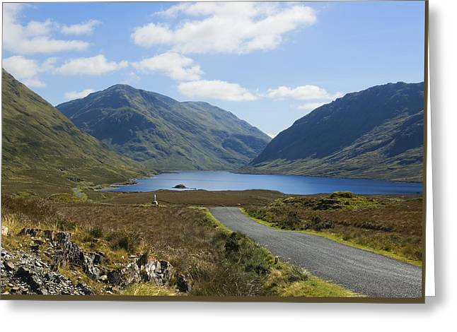 Wayside Cross Greeting Cards - Doolough Pass County Mayo Ireland Greeting Card by Jane McIlroy